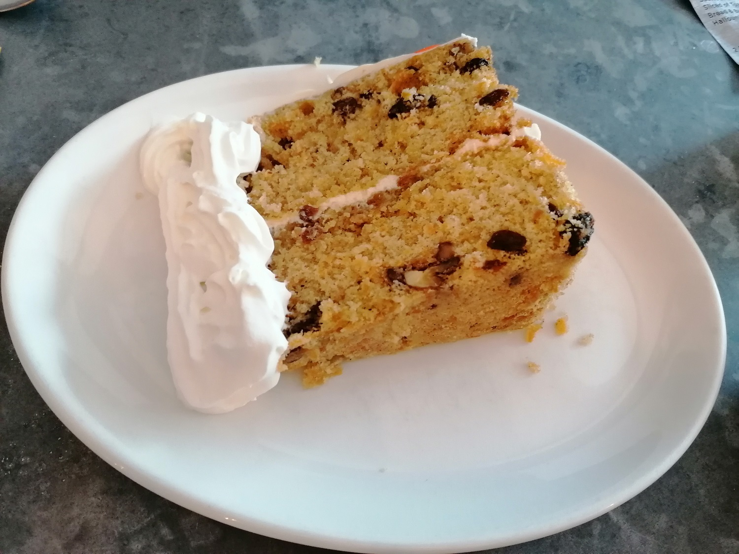 Home baked carrot cake in Hampshire